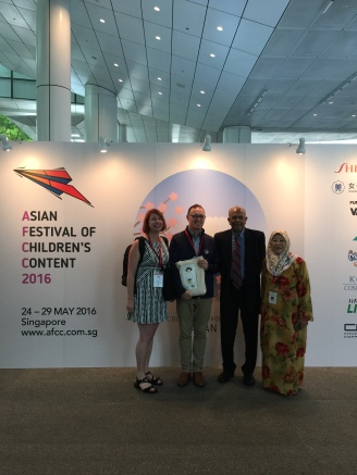 With Ken Spillman, Mr Rama and Ms Nellie Dato Paduka Haji Sunny from Brunei