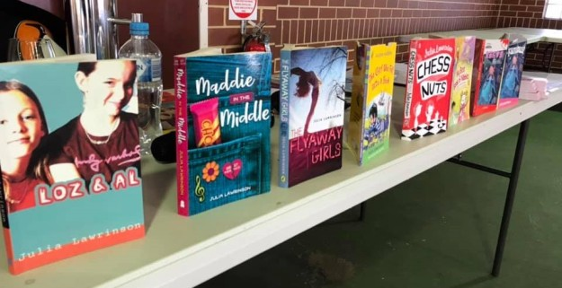 Junior books at book week Kyilla